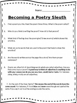 Poetry Sleuth