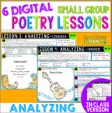 Poetry Small Group Reading Lessons: ANALYZING- Online & In