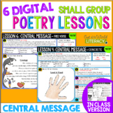 Poetry Small Group Reading Lessons: CENTRAL MESSAGE- Onlin