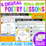 Poetry Small Group Reading Lessons: MOOD AND TONE- Online