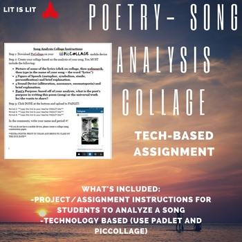 Poetry-Song Analysis Collage