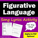 Poetry and Figurative Language Practice with Song Lyrics