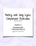 Poetry & Song Lyrics Comparison Activity w/Key