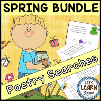 Spring Activities, Poetry Word Searches, Spring Theme With