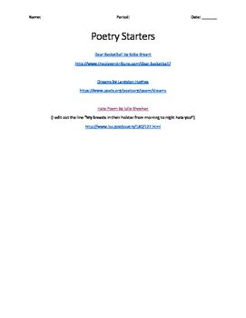 Poetry Starters
