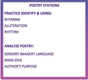 Poetry Station Activities