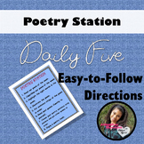 Poetry Station Directions Daily 5