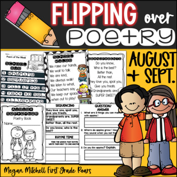 Poetry Flip Books: August/September