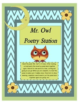 Poetry Station: Mr. Owl