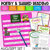 Poetry   Poems 1 for August and September   Printable and Digital