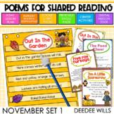 SEESAW Poetry: Poems for November