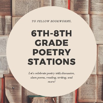 6th-8th Grade Poetry Stations