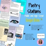 Poetry Stations : For High School and Middle School English Distance Learning