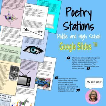 Poetry Stations : For High School and Middle School English Distance
