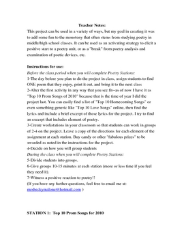 Poetry Stations: Four Group Assignments for Poetry Fun