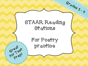 Poetry Stations - Practice for STAAR Reading and other tests