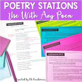 Poetry Activity Poetry Stations for Any Poem