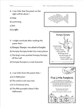Poetry Structure Daily Grade