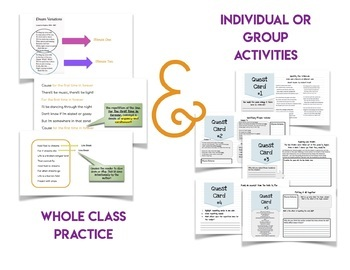 Poetry Structure Mini Lesson for Middle School Notes and Activities RL4