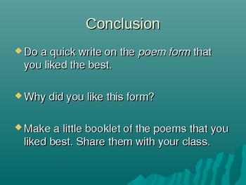 Poetry-Structured Poems to Write