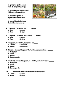 Poetry Struture Quiz