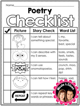 Writing Checklist - Poetry