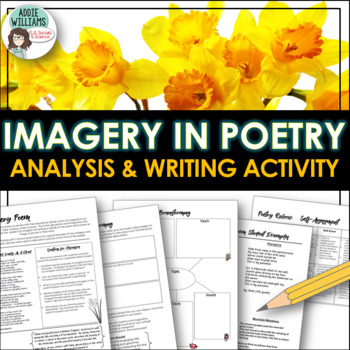 Imagery In Poetry Analysis And Writing Activity By Addie Williams
