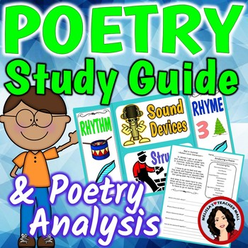 Poetry Analysis Unit With Study Guide and How The Stanzas Fit Together