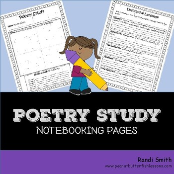 Poetry Study Notebooking Pages for Elementary Students