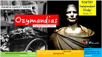 Poetry Study: Ozymandias, Percy Shelley: Independent Study Guide (ebook)