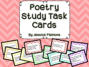 Poetry Study Task Cards