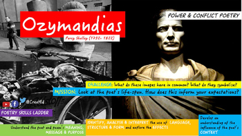 Poetry Study Teaching Unit: Ozymandias, Percy Shelley, Pow