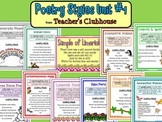 Poetry Styles Unit #1 from Teacher's Clubhouse