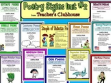 Poetry Styles Unit #2 from Teacher's Clubhouse