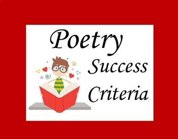 Poetry Success Criteria