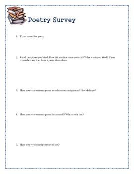 Poetry Survey