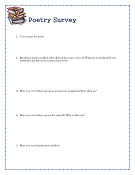 Poetry Survey