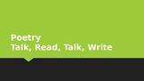 Poetry Talk, Read, Talk, Write