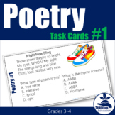 Poetry Task Cards 1 (3rd and 4th Grade)