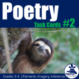Poetry Task Cards 2 (Elements and Imagery)