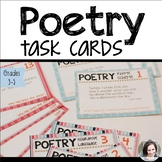 Poetry Task Cards   Figurative Language and Rhyme Scheme