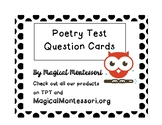 Poetry Test Question Task Cards