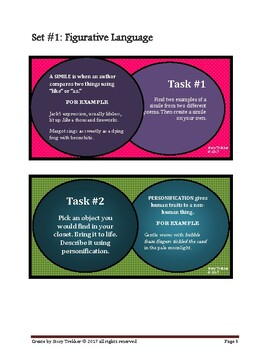 Poetry Task Cards - Figurative Language