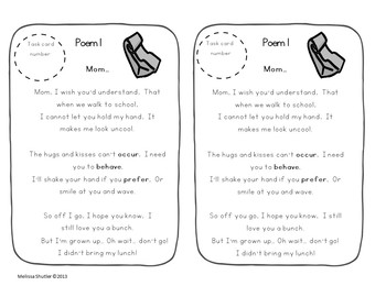 Poetry Task Cards- 8 original poems and 10 task cards