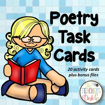 Poetry Task Cards Bonus Pack