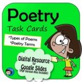 Poetry Task Cards Digital Resource
