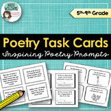 Poetry Task Cards - Practice With Figurative Language & More!
