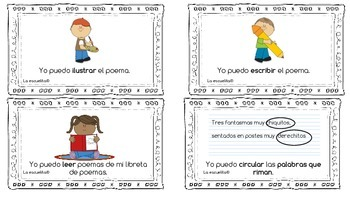 Poetry Task Cards in Spanish
