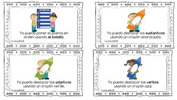 Poetry Task Cards in Spanish