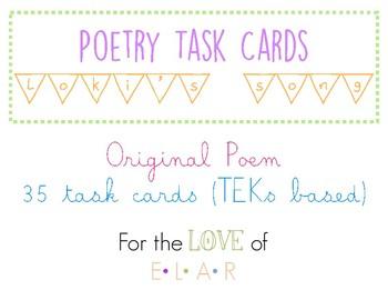 Poetry Task Cards - TEKs Aligned